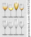 transparent wine glass 46446750