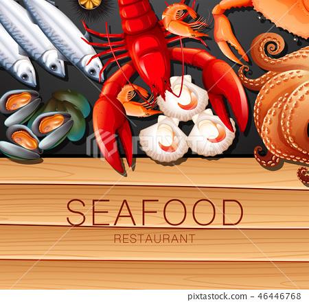 Set of fresh seafood 46446768