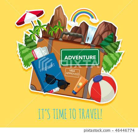 Travel object logo template 46446774
