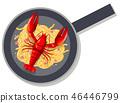pan lobster spaghetti 46446799