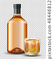 whiskey glass bottle 46446812