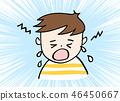 Crying boy 46450667