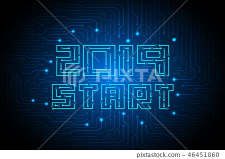 2019 start on circuit technology background design 46451860