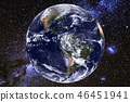 Earth and milky way galaxy. Elements of this image furnished by NASA. 46451941