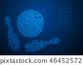 Abstract Geometric Circle dot pattern Bowling 46452572