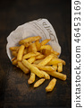 French fries in a paper bag 46453169