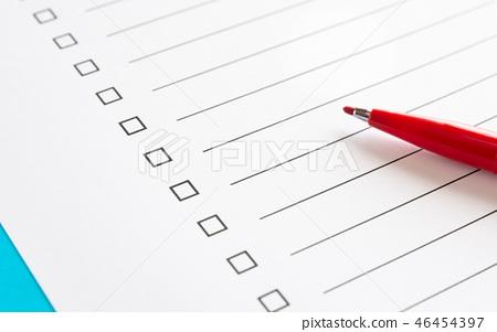 체크리스트 체크 박스 체크 표 할일 목록 목록 46454397