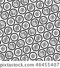 Rock-paper-scissors in circle pattern black 46455407