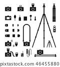 Photographer tool silhouette icon set illustration 46455880