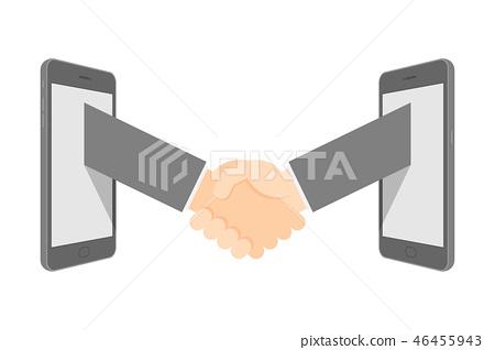 Handshake between two smartphone Business Success 46455943