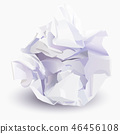 Paper ball, vector illustration 46456108