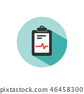Medical chart icon on a green circle 46458300