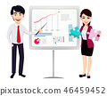 businessman businesswoman graph 46459452