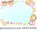 动物和儿童框架 46459496