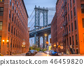 Manhattan Bridge from Brooklyn New York 46459820
