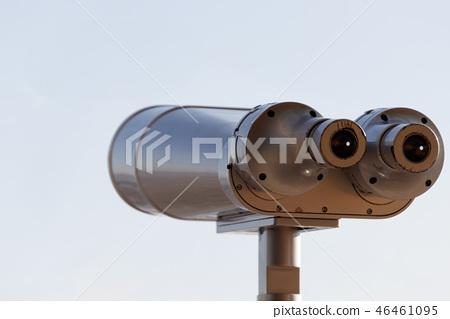 天文台望遠鏡。雙筒望遠鏡。 46461095