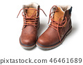 winter boots for men on white background 46461689