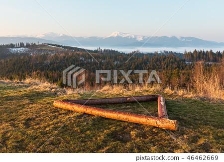 Early morning spring Carpathian mountains 46462669