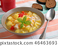 Chicken soup with vegetables 46463693