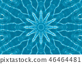 Abstract blue star 46464481