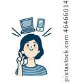女人_PC和智能手機 46466014
