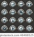 Music icons set 46466525