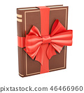 Book with red bow and ribbon. Gift concept 46466960