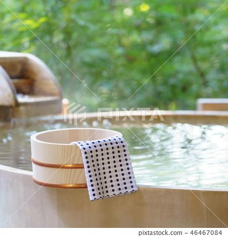 户外浴室日式温泉形象 46467084