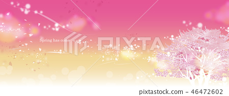 Cherry blossom banner pink spring has come 46472602