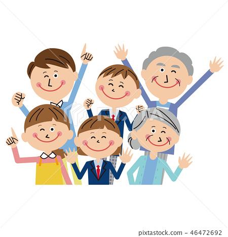 팝 3 세대 가족 기쁨 46472692