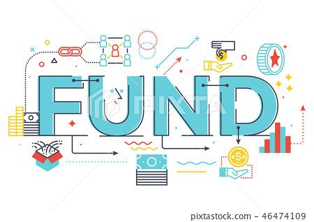 Fund word lettering illustration 46474109