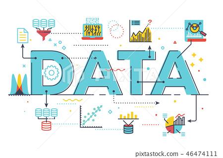 Data word lettering illustration 46474111