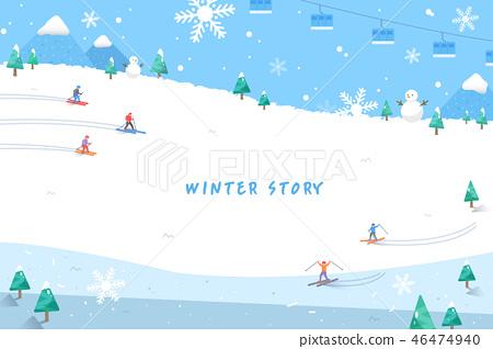 冬天的故事插圖 46474940