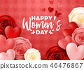Happy International Women's Day with roses flower  46476867