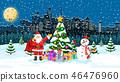 Christmas winter cityscape 46476960