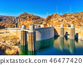 Famous and amazing Hoover Dam at Lake Mead 46477420