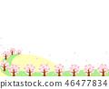 在盛開的櫻花樹 46477834