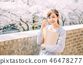 櫻花和大學女生 46478277