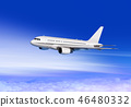 aircraft flying in cloud sky  46480332