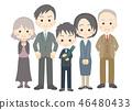 男小學生[三代家庭]畢業典禮 46480433