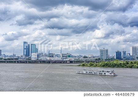 유람선,밤섬,강변북로,마포구,서울,한강,하늘 46480679
