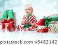 baby, child, christmas 46482142