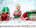 baby, child, christmas 46482143