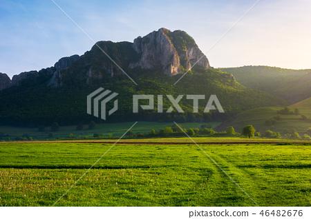 beautiful sunrise in mountains of Romania 46482676