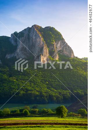 beautiful sunrise in mountains of Romania 46482677