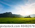beautiful sunrise in mountains of Romania 46482678