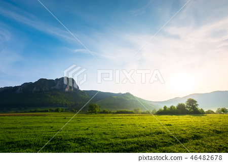 beautiful sunrise in mountains of Romania 46482678