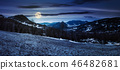panorama of countryside in springtime at night 46482681