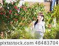 여자 여성 대학생 소녀 귀여움 도시 낭만 여유  46483704