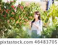 여자 여성 대학생 소녀 귀여움 도시 낭만 여유  46483705